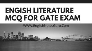 English literature for GATE