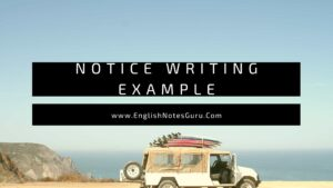 Notice Writing Examples PDF