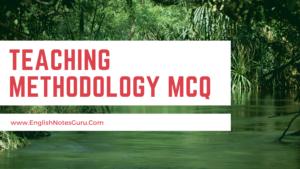 Teaching methodology mcq