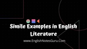 Simile Examples in English Literature