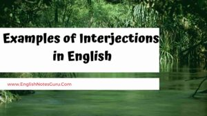 Examples of Interjections in English