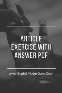 Article Exercise With Answer PDF
