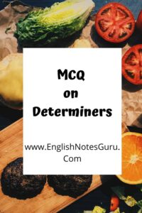MCQ on Determiners