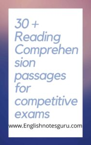 Reading Comprehension Passages with questions and answers pdf