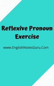 Reflexive Pronoun Exercise